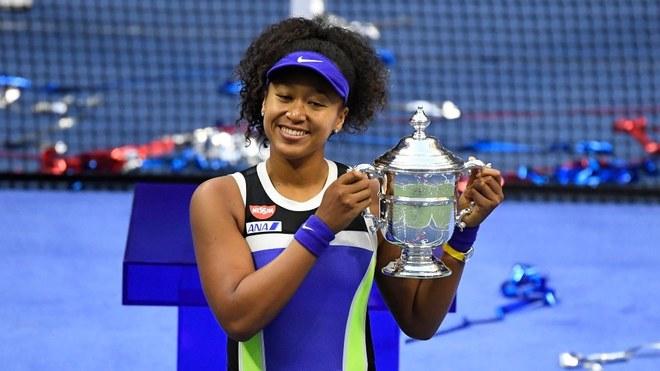 Naomi Osaka celebrant US Open