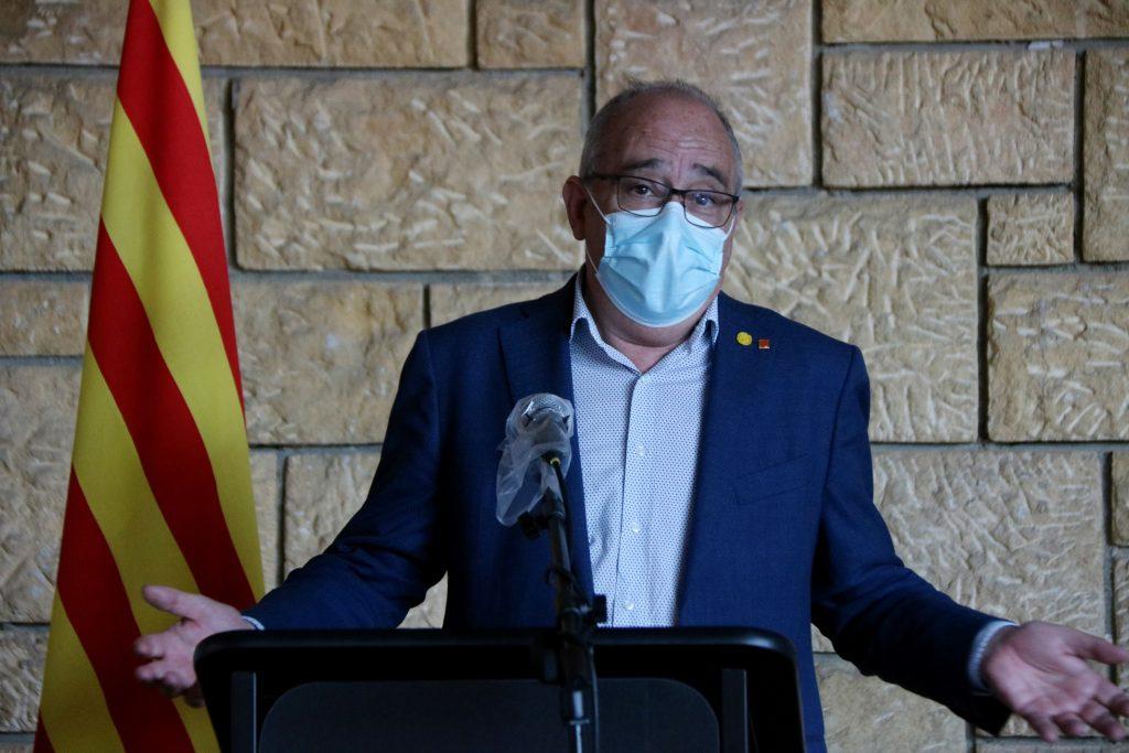 Josep Bargalló assegurant que el curs començarà el 14 de setembre