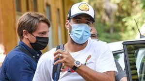 Luis Suárez a Perugia després d'aprovar l'examen d'italià